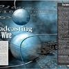 Radio Magazine Broadcasting on the Wire inside spread